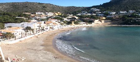 El Portet beach in Moraira