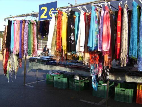 Moraira Market Scarf Stall