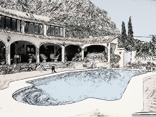 Sketch of Javea Montgo Villa for Sale