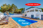 Large luxury villa for winter let in Javea.