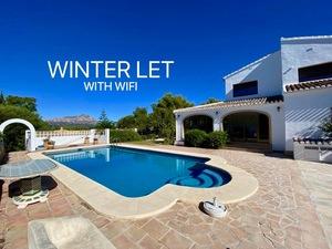 Private villa for winter rental in Javea