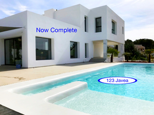 Finished new construction for sale in Javea