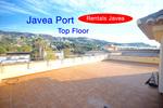 Javea Port top floor apartment to rent