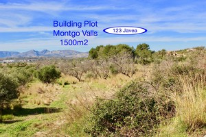 Montgo Valls building plot for sale