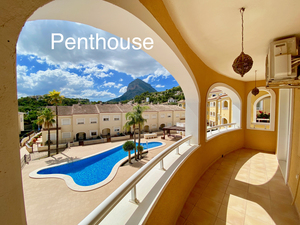 Penthouse apartment to rent all year in Javea Old Town
