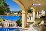 Spacious villa for sale with sea views in Moraira