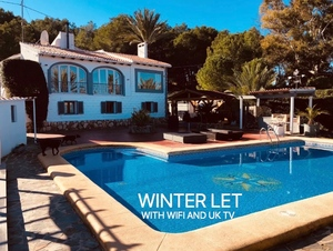 Winter let in Javea Arenal.