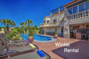 Luxury villa to let for winter in Javea.