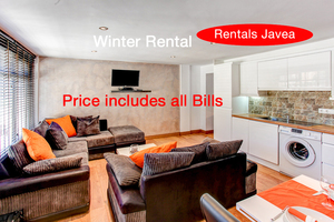Modern one bedroom apartment for winter rental in Javea.