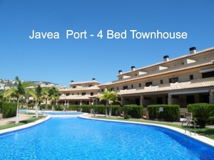 Townhouse to let Javea Port.