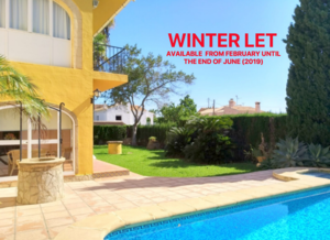 Villa to let for winter rental Javea
