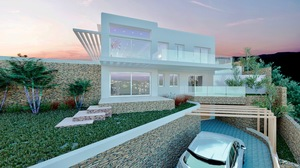New build villa for sale in Javea with sea views