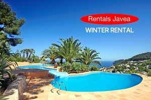 Luxury private villa with sea views for winter rental in Javea.