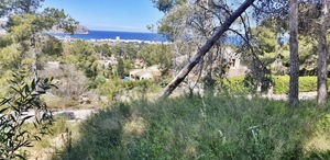 Javea Adsubia building plot for sale with sea view