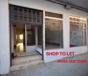 Shop to let in Javea Old Town