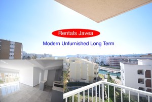 Unfurnished apartment with sea views Javea Arenal.
