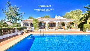 Villa for winter rental in Javea La Lluca.