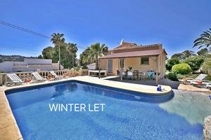 Winter let villa Javea Toscal.
