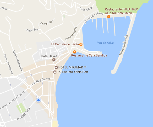 Map of Javea Port