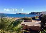 Frontline villa for winter rental Javea Arenal.