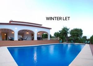 3 bedroom villa for winter rental Javea.