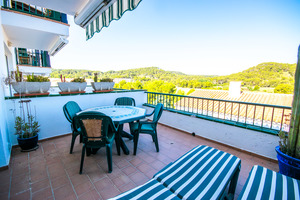 2 bedroom two storey apartment in Son Parc, Menorca overlooking golf course