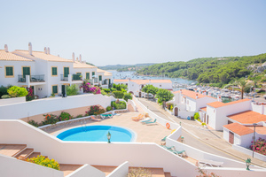 2 bedroom apartment with views over Addaia port in Menorca
