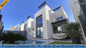 3 bedroom 2 bthroom modern villa in Villamartin