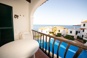 3 bedroom apartment in Playa Fornells, Menorca overlooking the sea