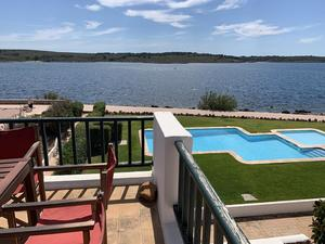 Fabulous 3 bedroom apartment in front of the sea in Fornells, Menorca