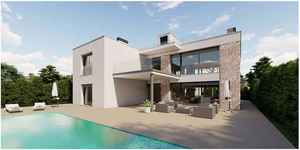 Large new modern villa with 6 bedrooms