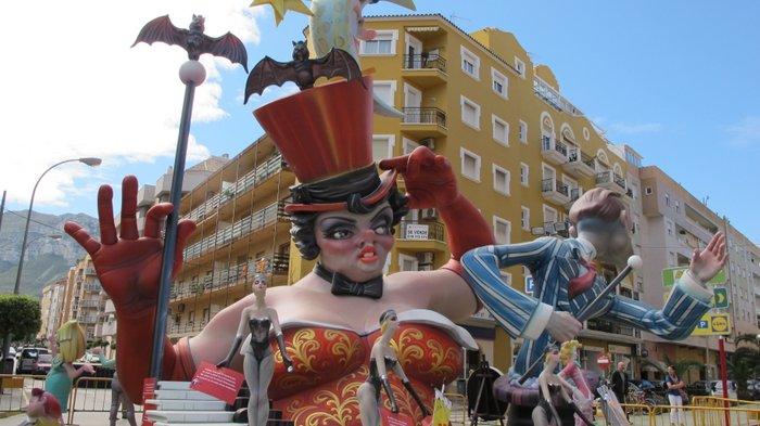 Fallas fiesta in Denia
