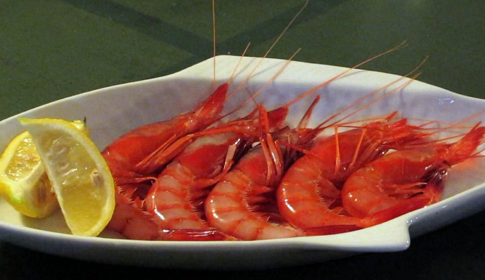 Delicious red prawns