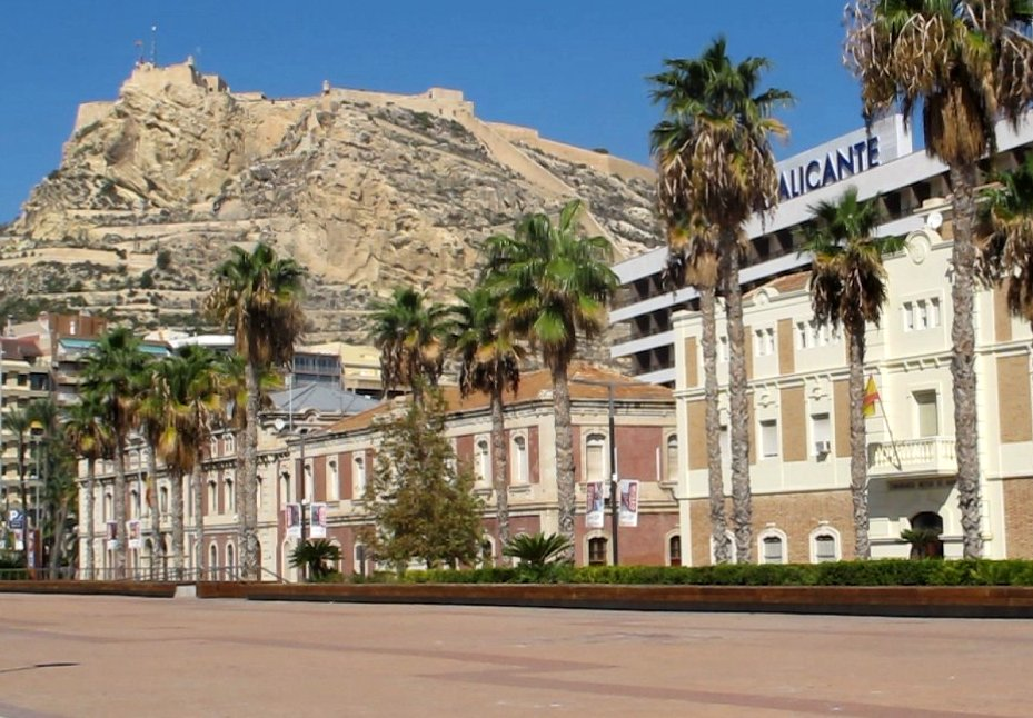 Alicante from the marina