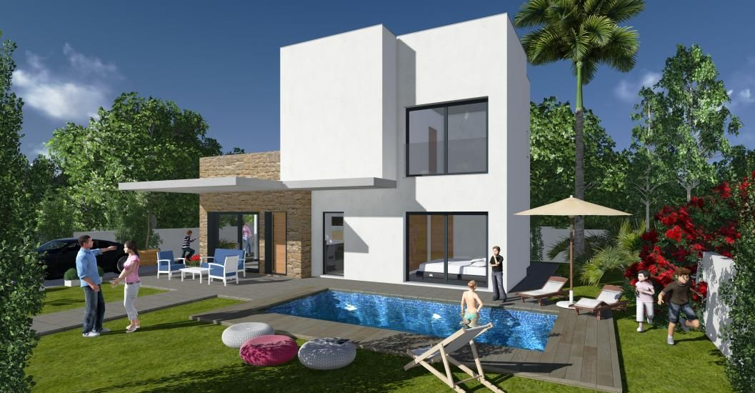 Villa moderne a dona pepa for Villa moderne avec jardin