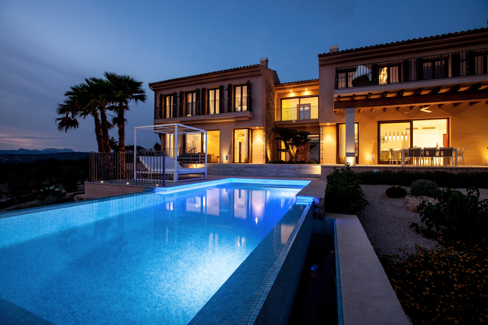 Newly built luxury villa with panoramic sea views, pool and garage in Son G