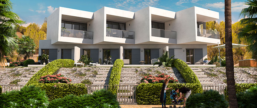 BEACH TOWNHOUSES FOR SALE IN SPAIN AT CALA MURADA