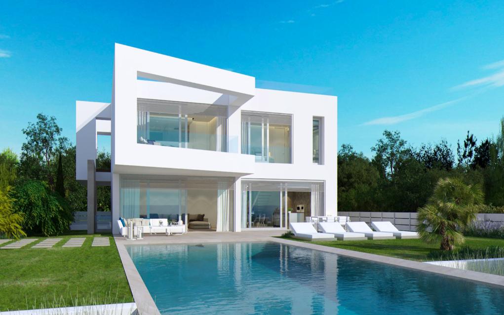 Contemporary style villa in first sea line El Toro