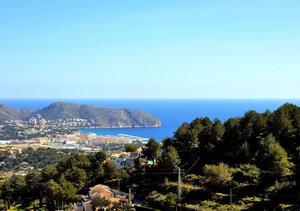 Moraira double sea view building plot for sale